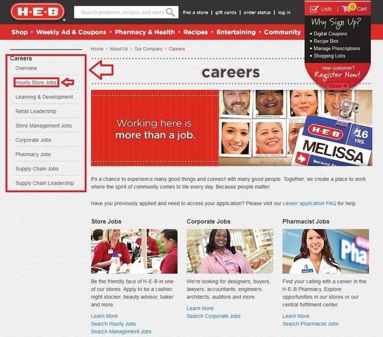 apply H-E-B online step 1