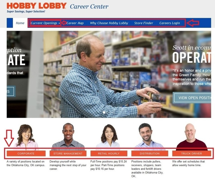 apply Hobby Lobby online step 1