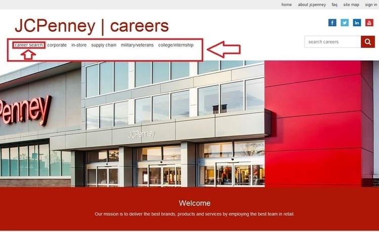 apply JCPenney online step 1