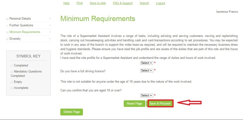 apply John Lewis online step 7