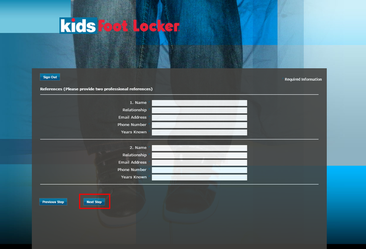 apply Kids Foot Locker online step 8