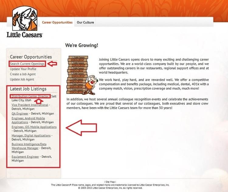 How-to-Apply-Little-Caesars-Online-Step-1 Job Application Form Little Caesars on team member, pizza printable, store management, crew member, lynchburg va job, print out form, apply online,