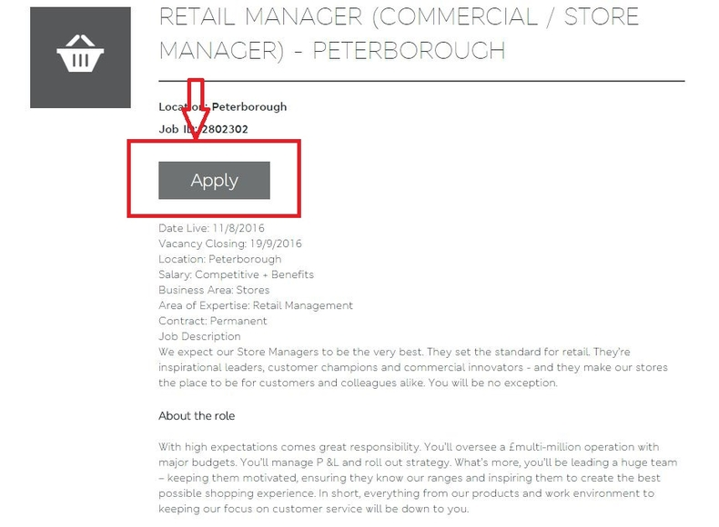 apply Marks and Spencer online step 4