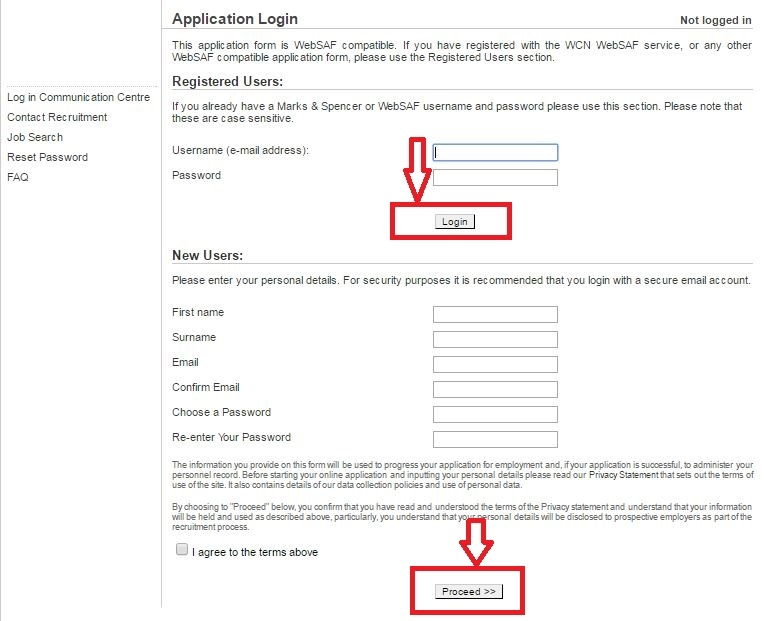 apply Marks and Spencer online step 5