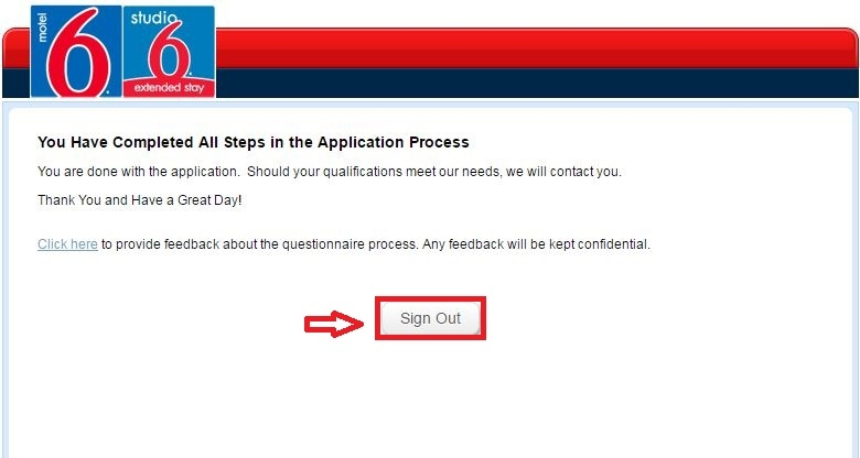 apply Motel 6 online step 10