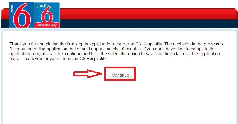 apply Motel 6 online step 8