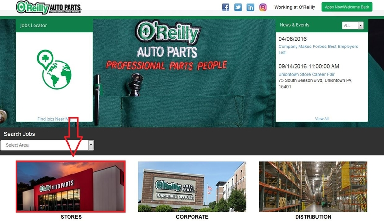 apply O'Reilly Auto Parts online step 1