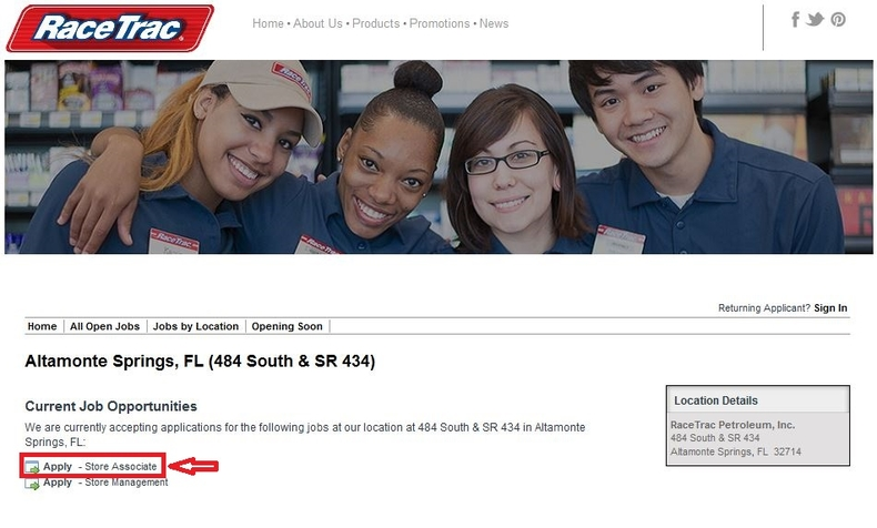 apply RaceTrac online step 3