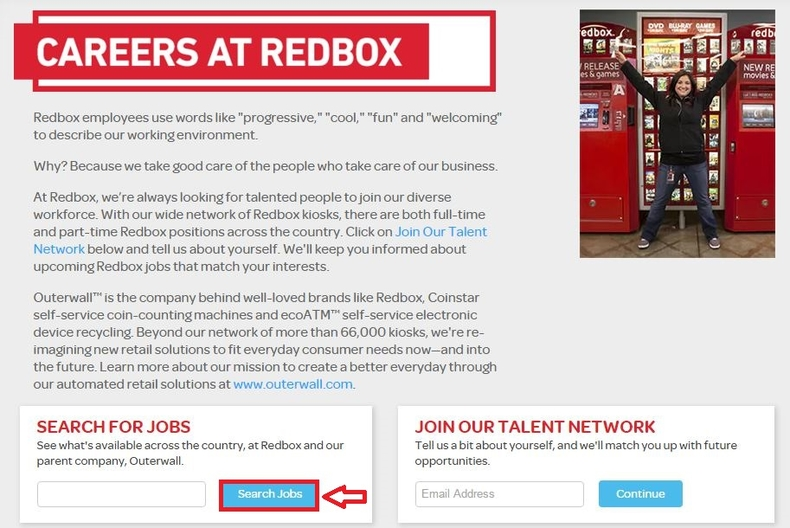 apply Redbox online step 1