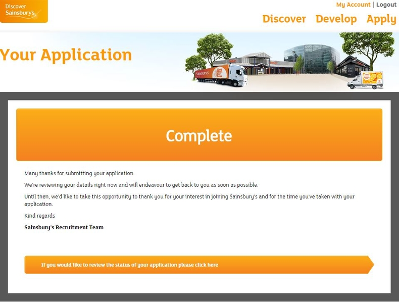 apply Sainsbury's online step 9
