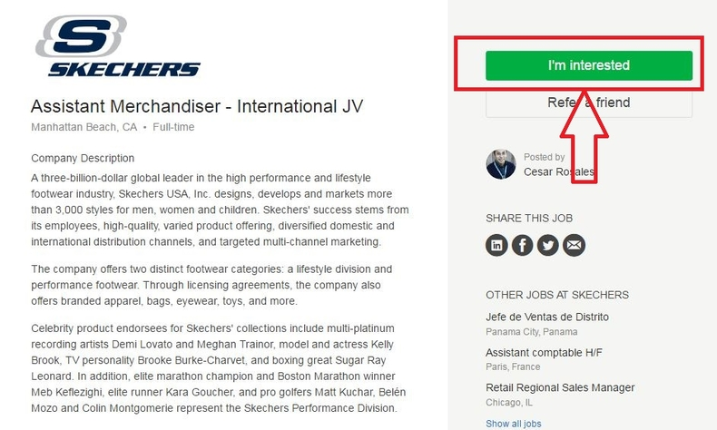 apply Skechers online step 3
