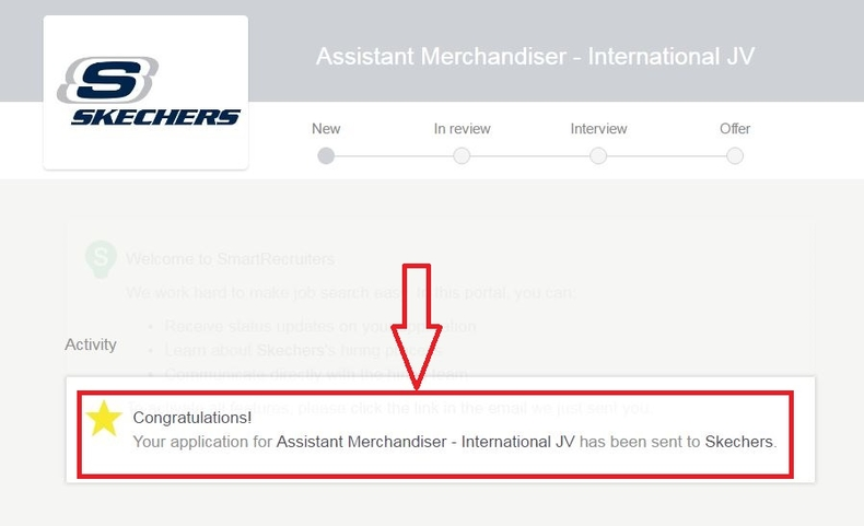 apply Skechers online step 7
