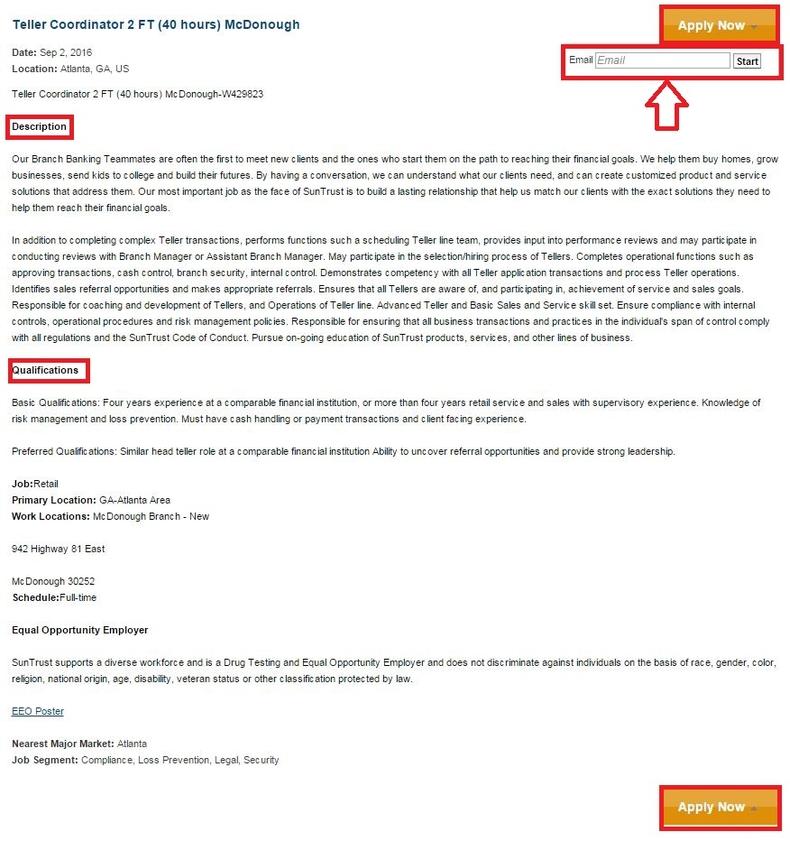 How to Apply for SunTrust Bank Jobs Online at suntrust.com ...