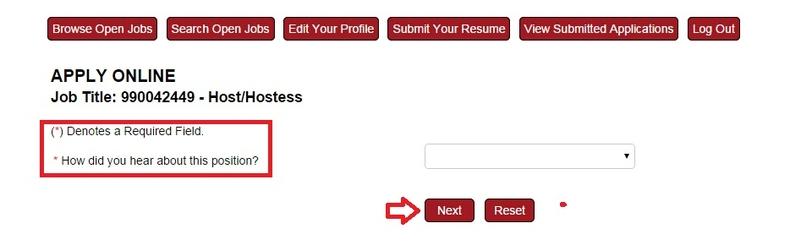 Apply TGI Fridays Online Step 7