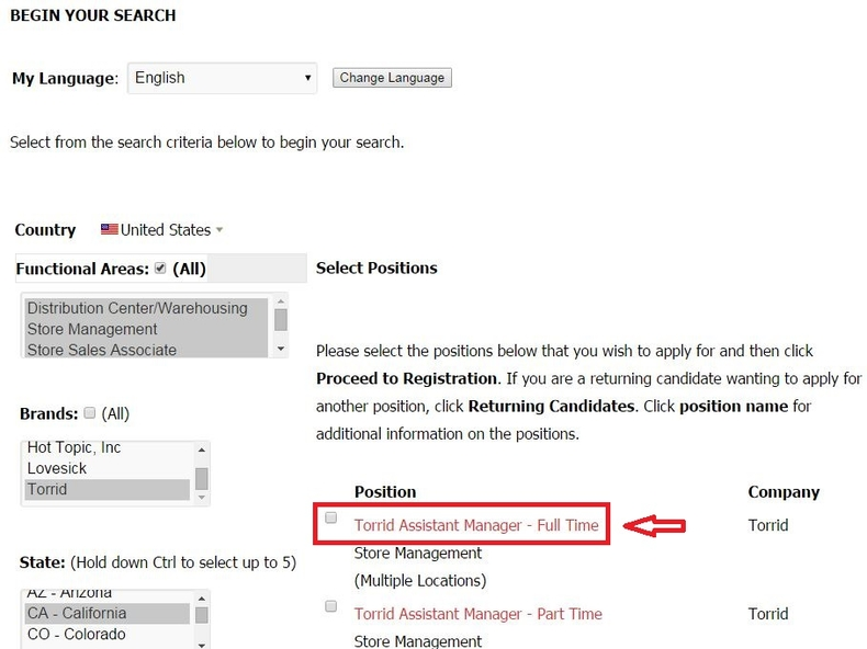 How To Apply For Torrid Jobs Online At Torrid.Com/Careers