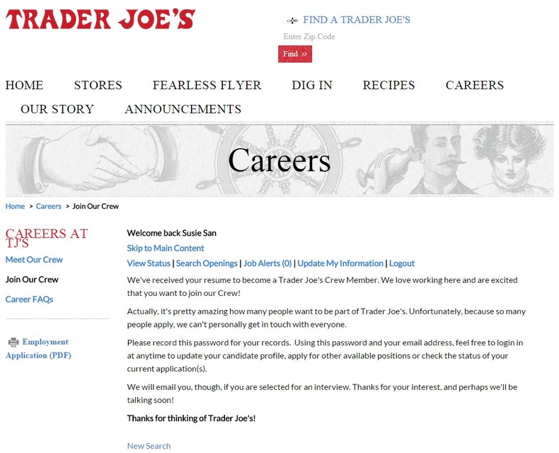 apply Trader Joe's online step 7