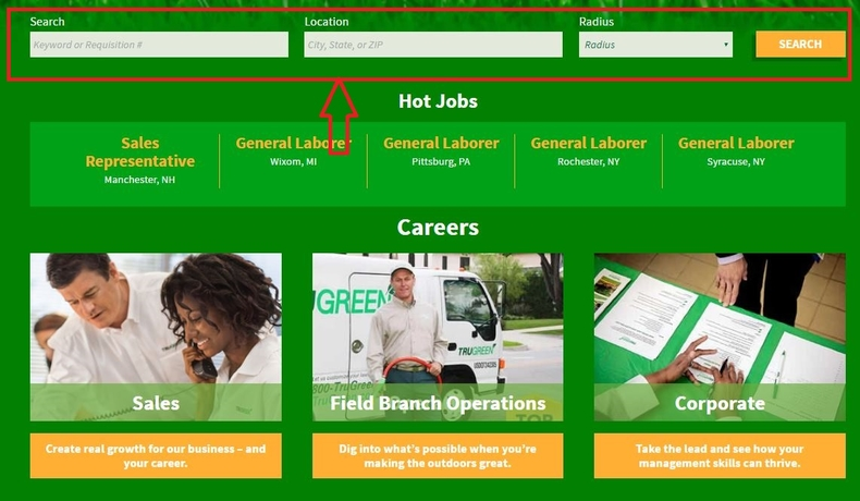 apply TruGreen online step 1