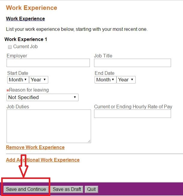 apply Universal Studios online step 8