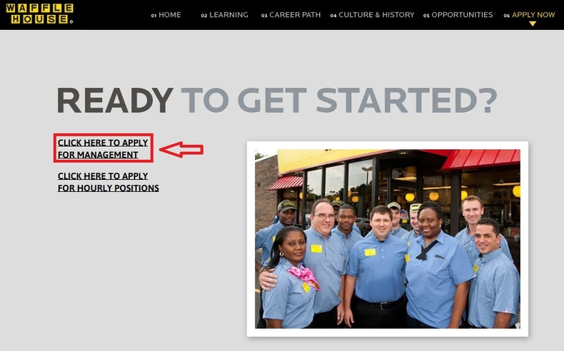 apply Waffle House online step 2