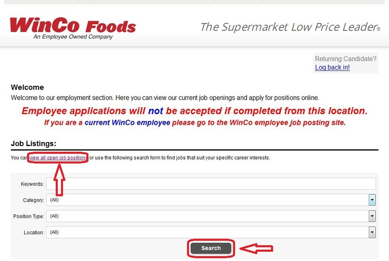 apply WinCo Foods online step 2