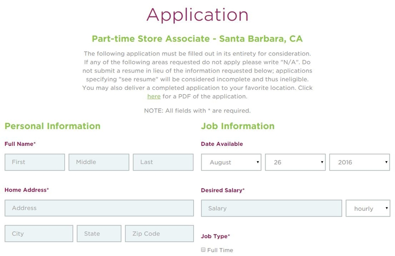 apply Yogurtland online step 3