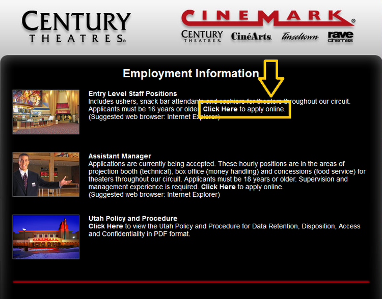 apply Cinemark online step 3