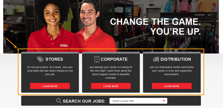 apply Sports Authority online step 1