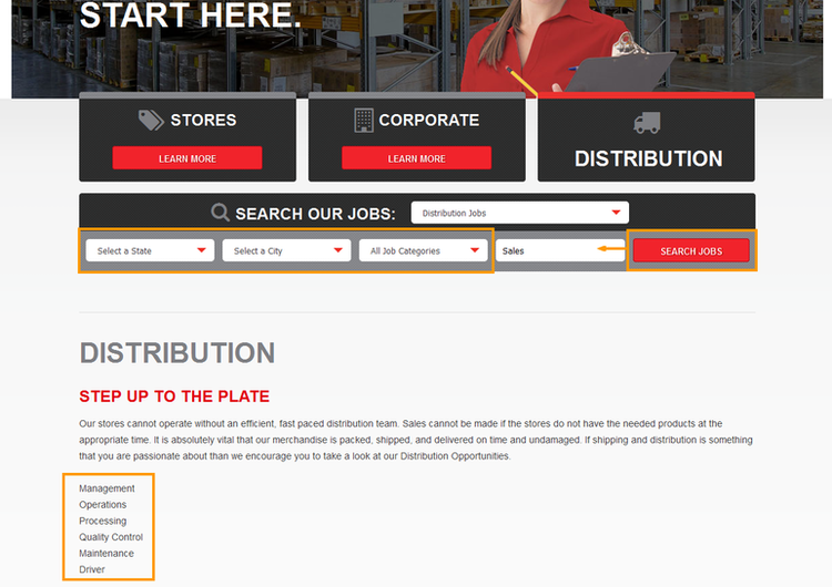 apply Sports Authority online step 2