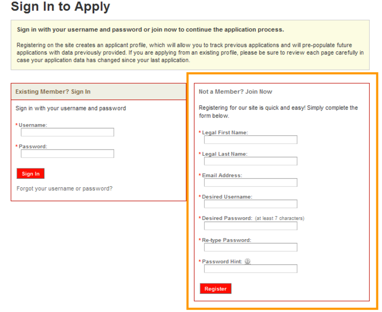 apply Sports Authority online step 7