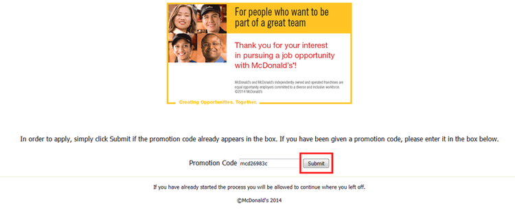 apply McDonald's online step 4
