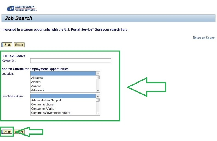 apply USPS online step 2