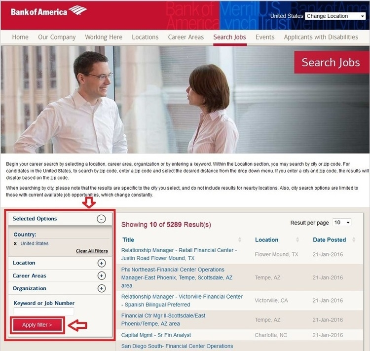 How To Apply For Bank Of America Jobs Online At Bankofamerica.Com