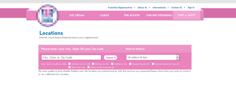 apply Baskin Robbins online step 2