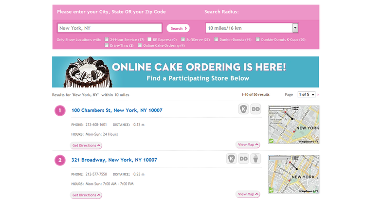 apply Baskin Robbins online step 3