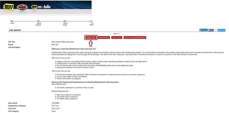 Best buy resume application online form