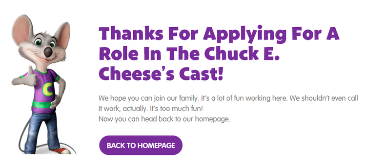 apply Chuck E. Cheese's online step 3