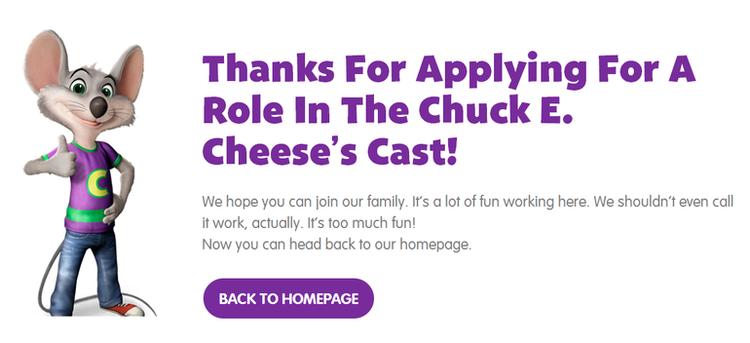 chuck e cheese hiring