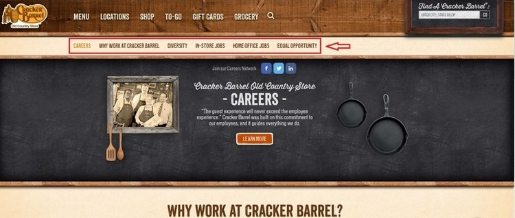 apply Cracker Barrel online step 1