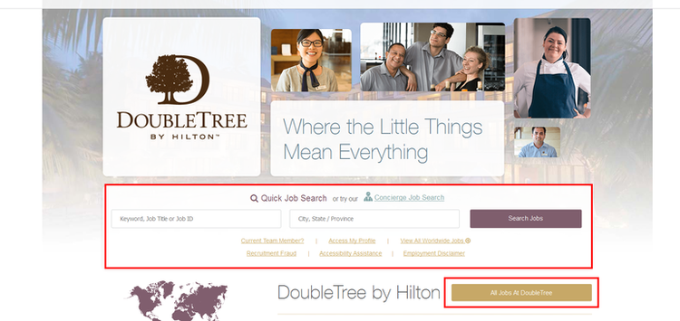 apply DoubleTree online step 1