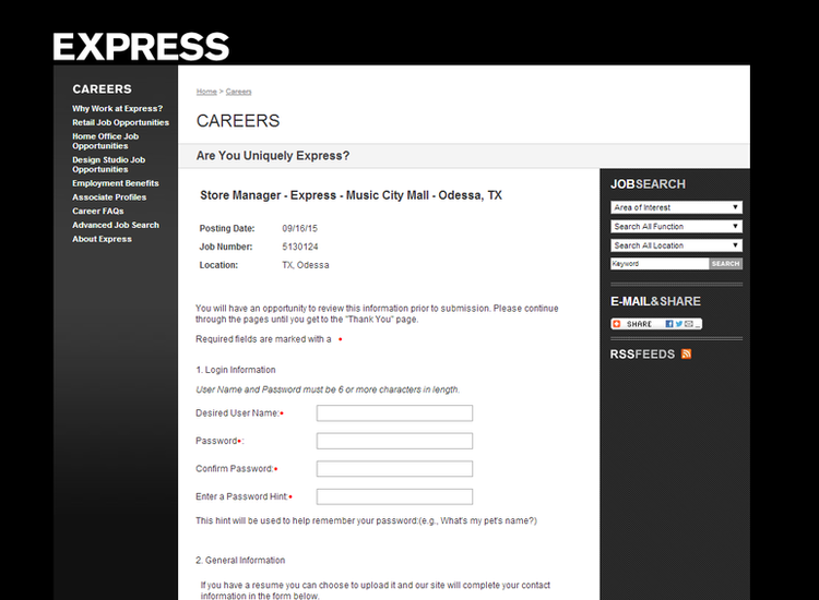 apply Express online step 4
