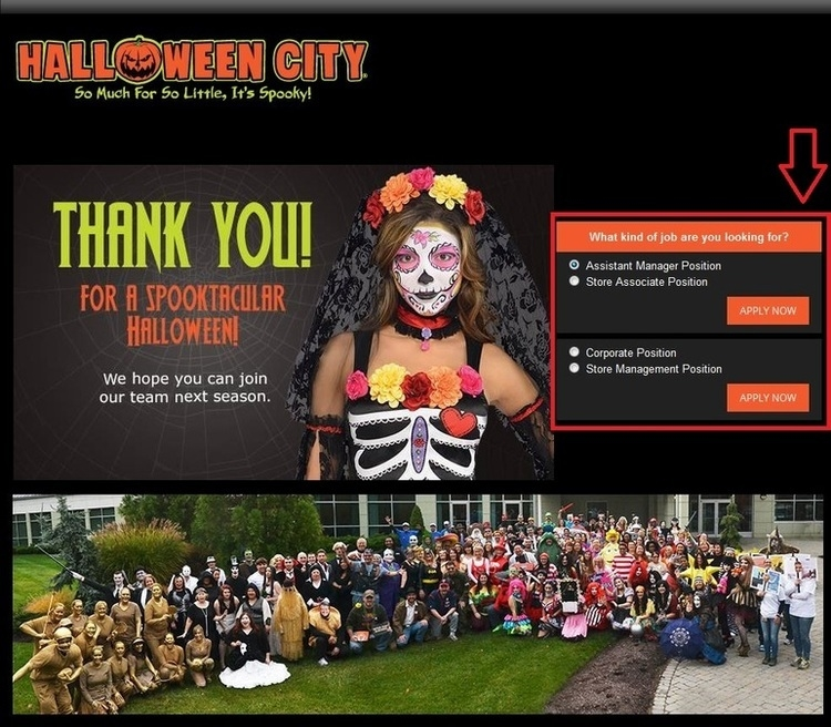 apply Halloween City online step 1