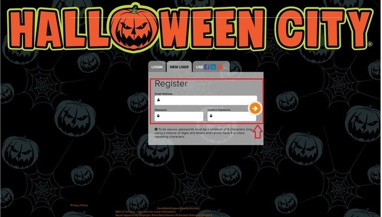 apply Halloween City online step 4