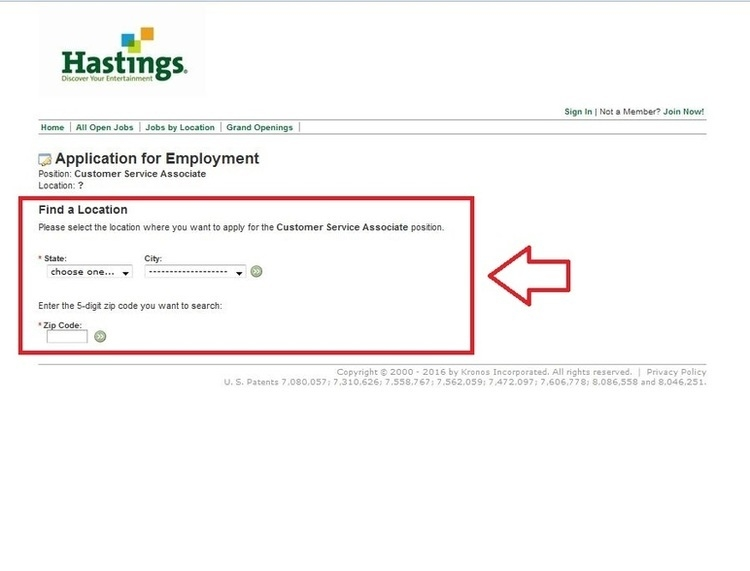 apply Hastings online step 3
