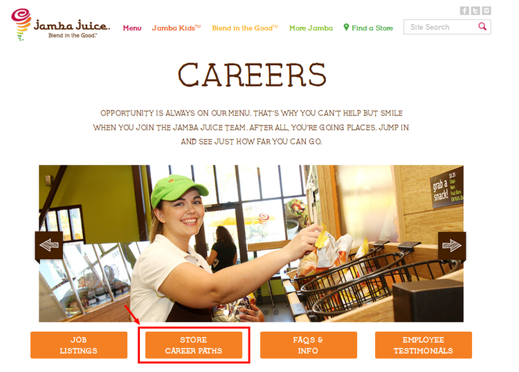 How-to-Apply-Jamba-Juice-Online-Step-1 Jamba Juice Application Form on fundraiser card, food menu, frozen smoothie mix, size cups, energy bowl, fruit bowl, smoothie bowl, apple greens,