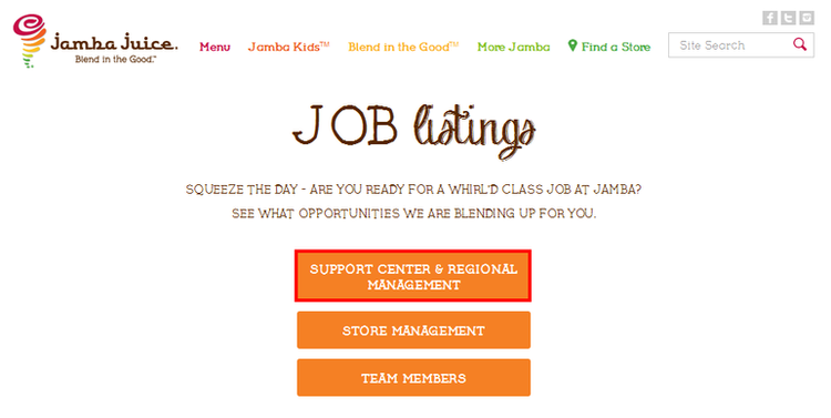 apply Jamba Juice online step 3