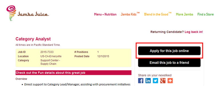 How-to-Apply-Jamba-Juice-Online-Step-5 Jamba Juice Job Application Form on apple greens, size cups, energy bowl, smoothie bowl, frozen smoothie mix, fruit bowl, fundraiser card, food menu,
