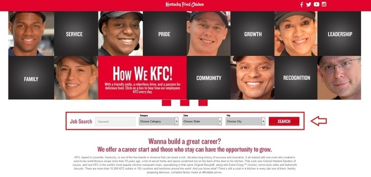 apply KFC online step 1