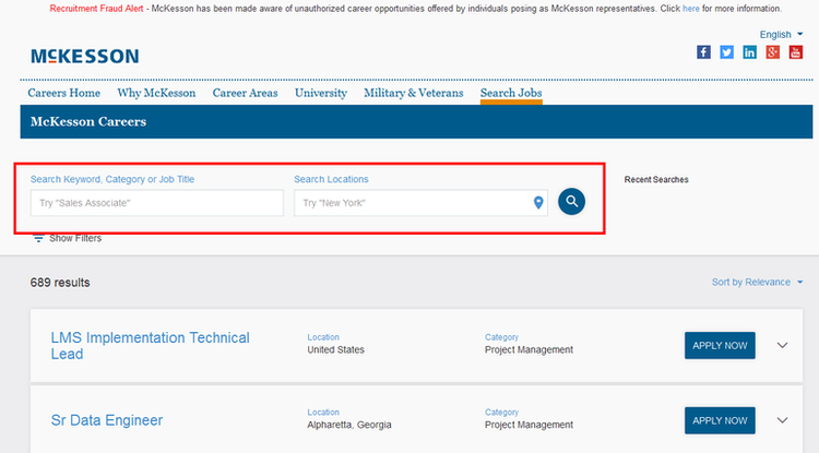 apply McKesson online step 1