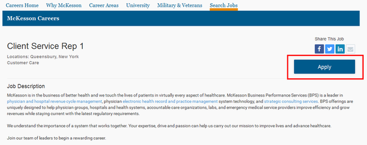 apply McKesson online step 2