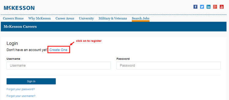 apply McKesson online step 3